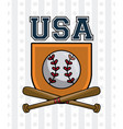 usa baseball sport game vector image vector image