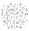 vegan food background vector image vector image