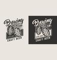 vintage craft beer logo vector image