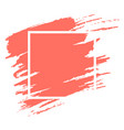 watercolor coral brushstroke with frame vector image vector image