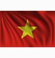waving vietnam vector image vector image