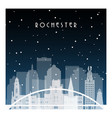 winter night in rochester night city vector image vector image