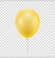 yellow realistic balloon vector image vector image