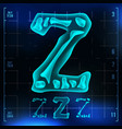 z letter capital digit roentgen x-ray vector image vector image