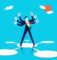 multitasking businessman concept art vector image