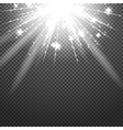 Shiny sunburst of sunbeams on the abstract vector image