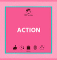 action button symbol vector image vector image