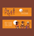 african native family tribe people vector image vector image