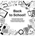 back to school doodle frame vector image