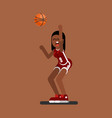 bascketball female player vector image