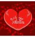 Be my ValentineCalligraphy lettering vector image vector image