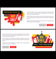 big sale only this weekend web page with gift box vector image vector image