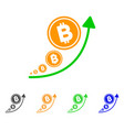 bitcoin inflation trend icon vector image vector image