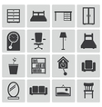 black furniture icons set vector image vector image
