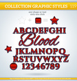 Blood Graphic Style for Design vector image