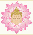 buddha head and lotus mosaic vector image vector image