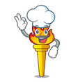 chef torch character cartoon style vector image vector image