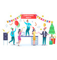 christmas party concept for web banner website vector image vector image