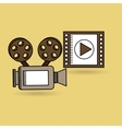 concept cinema camera film strip design vector image vector image