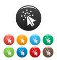 cursor digital icons set color vector image vector image