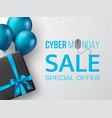 cyber monday sale horizontal poster or banner vector image vector image