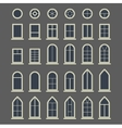 Different types of windows Eps10 vector image vector image