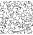 doodle mountains seamless pattern fantasy nature vector image vector image