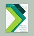 elegant green arrow style business brochure vector image vector image