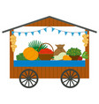 fair with vegetables and fruit harvesting vector image