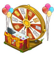 festive wheel of fortune with colorful balloons vector image vector image