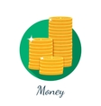 Flat coin icon vector image