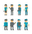 flat design polices set vector image
