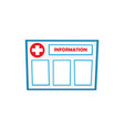 flat information board isolated vector image
