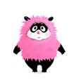 fluffy hairy friendly monster for kids vector image