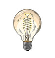 hand drawn sketch lightbulb in color isolated vector image
