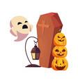 happy halloween celebration vector image