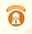 icon avatar judge symbol of justice vector image