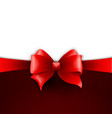 Invitation card with red holiday ribbon and bow vector image