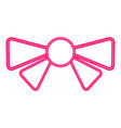 isolated bow ribbon icon vector image vector image