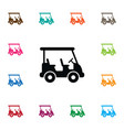 Isolated game icon buggy element can be vector image