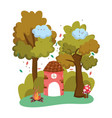 isolated house fairytale design vector image
