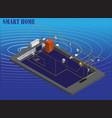 isometric image smart home technology vector image