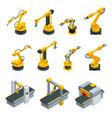 isometric set of robotic hand machine tool