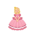 Little Girl In Pink Dress Dressed As Fairy Tale vector image vector image