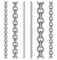 metal seamless chain collections iron steel or vector image vector image