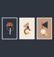 minimalistic geometric art wall posters set of vector image vector image