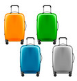 modern plastic wheeled suitcase - set of baggage vector image vector image