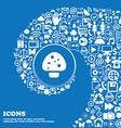 mushroom icon sign Nice set of beautiful icons vector image