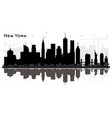 new york usa city skyline silhouette with black vector image vector image