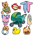 Newborn accessories icons set vector image vector image